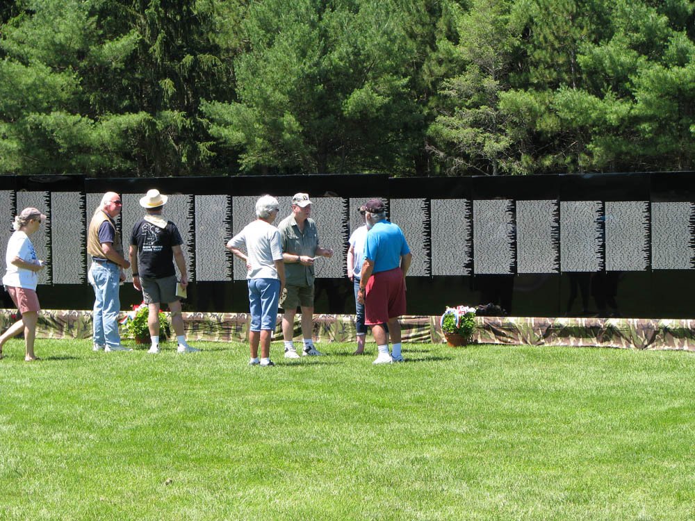 A view of the Moving Wall Memorial (Vietnam War)