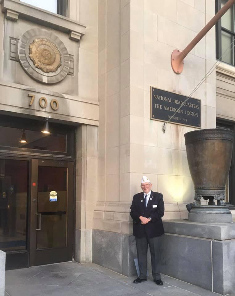 NH Depart Historian, Wayne Mitchell goes National Headquarters