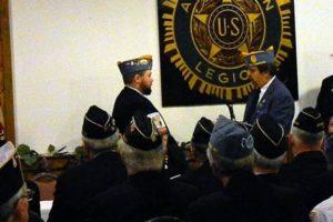 Matt Whitmore being sworn in as SAL CMDR by Detachment Vice CMDR Scott Merrill.