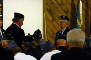 """Francis """"Sharkey"""" Madden takes the Oath of Office for Sgt at Arms."""