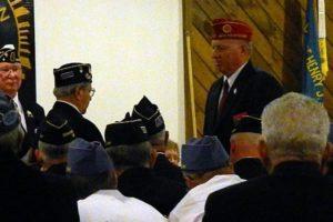 Service Officer and National Alternate Delegate Bill Roy being sworn in.