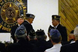 Swearing in of David Quinn as the new Jr. Vice CMDR.