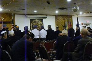 American Legion and Sons being sworn in together.