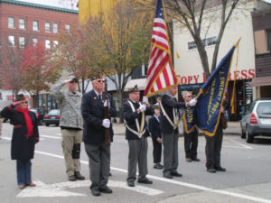 Honor Guard at Attention salutes the 11th hr, 11th day, of the 11th month Armistice that ended WW-I.