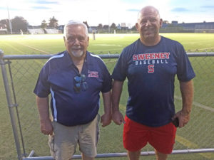 Bernard Dudley (Executive Board and Brian LeVeille (Baseball Director)